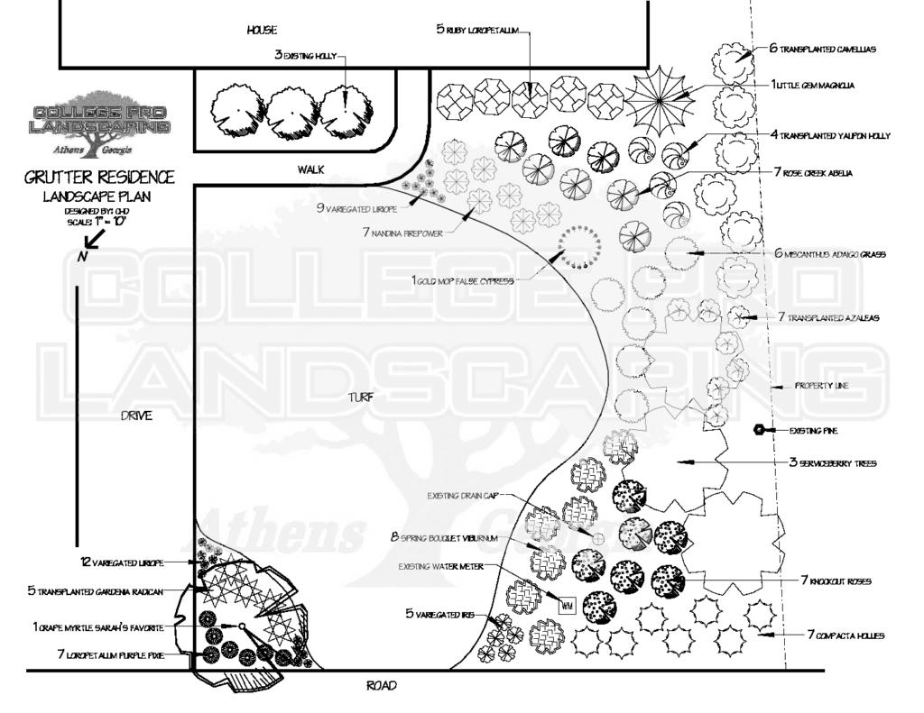 Residential landscape design college pro landscaping for Residential landscape plan